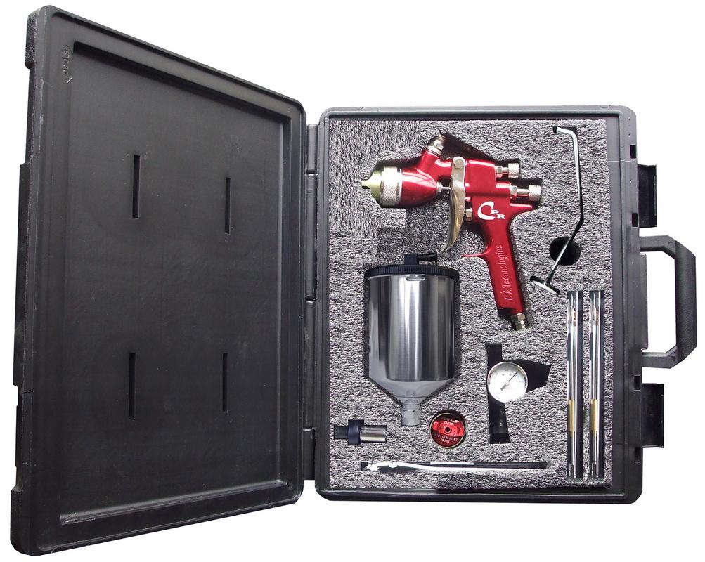CA Tech CPR-G-W, HVLP/Compliant Pres Red Gun Kit, 1Qt Gravity Cup