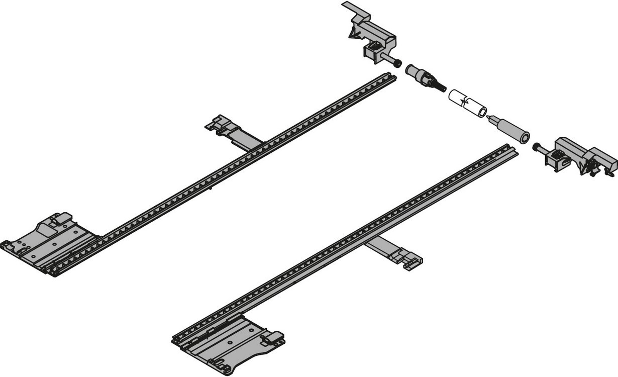 "Blum ZS7M400LU LEGRABOX 11""-16"" Lateral Stabilizer Set"