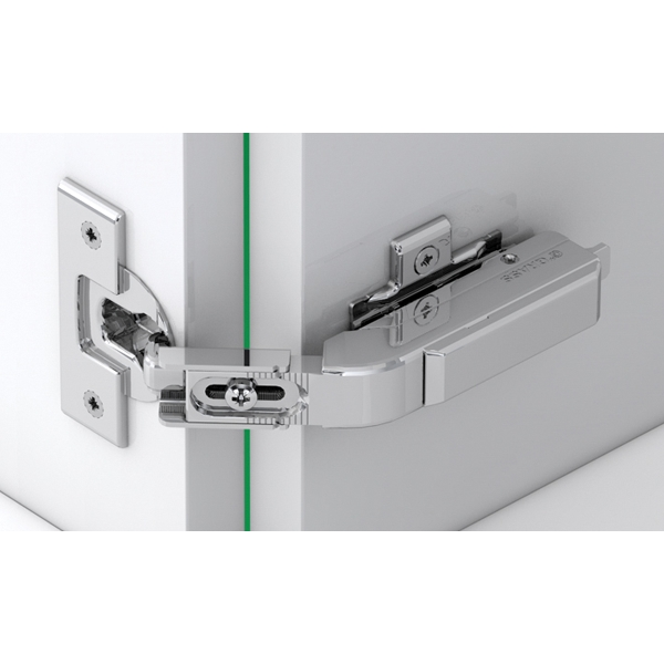 Grass F045138336228 Tiomos Self-close Pie Cut Corner Hinge, 42mm Boring Pattern