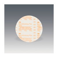 3M 51144819188 Abrasive Discs, Microning Film, 5in, No Hole, Hook & Loop, 15 Micron