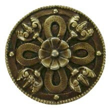 Notting Hill NHK-103-AB, Celtic Shield Knob in Antique Brass, Jewel