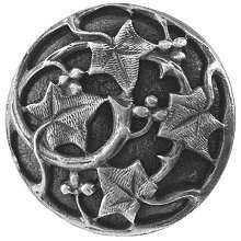 Notting Hill NHK-105-AP, Ivy With Berries Knob in Antique Pewter, Leaves