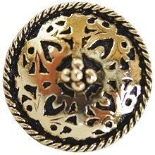 Notting Hill NHK-112-BB, Moroccan Jewel Knob in Brite Brass, Jewel
