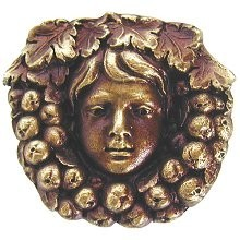 Notting Hill NHK-119-AB, Fruit Of The Vine Knob in Antique Brass, Tuscan