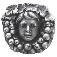 Notting Hill NHK-119-AP, Fruit Of The Vine Knob in Antique Pewter, Tuscan