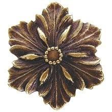 Notting Hill NHK-125-AB, Opulent Flower Knob in Antique Brass, Classic