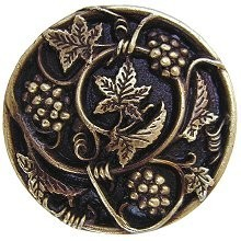 Notting Hill NHK-129-AB, Grapevines Knob in Antique Brass, Tuscan
