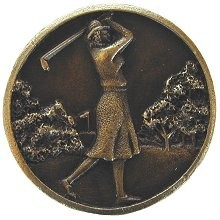 Notting Hill NHK-131-AB, Lady Of The Links Knob in Antique Brass, Great Outdoors