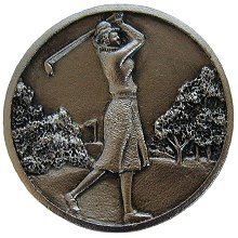 Notting Hill NHK-131-SN, Lady Of The Links Knob in Satin Nickel, Great Outdoors
