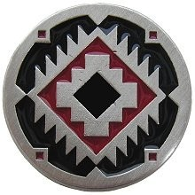 Notting Hill NHK-132-AP-A, Navajo Treasure Knob in Antique Pewter/Red, Great Outdoors