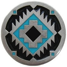 Notting Hill NHK-132-AP-B, Navajo Treasure Knob in Antique Pewter/Turquoise, Great Outdoors