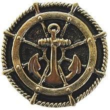 Notting Hill NHK-135-BB, Ship's Wheel Knob in Brite Brass, Tropical