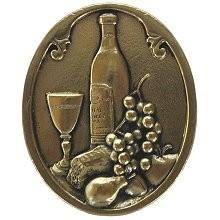 Notting Hill NHK-140-BB, Best Cellar (Wine) Knob in Brite Brass, Tuscan