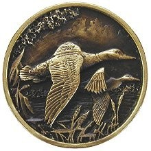 Notting Hill NHK-141-AB, On The Wing (Ducks) Knob in Antique Brass, Great Outdoors