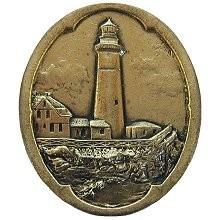 Notting Hill NHK-142-BB, Guiding Lighthouse Knob in Brite Brass, Tropical