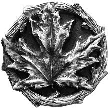Notting Hill NHK-146-AP, Maple Leaf Knob in Antique Pewter, Leaves