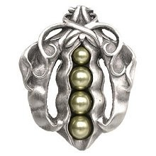 Notting Hill NHK-150-AP, Pearly Peapod Knob in Antique Pewter, Kitchen Garden