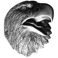 Notting Hill NHK-151-AP, Proud Eagle Knob in Antique Pewter, Great Outdoors
