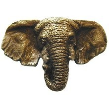Notting Hill NHK-153-AB, Goliath (Elephant) Knob in Antique Brass, All Creatures