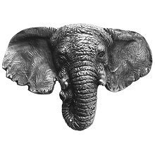 Notting Hill NHK-153-AP, Goliath (Elephant) Knob in Antique Pewter, All Creatures