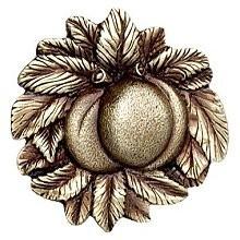 Notting Hill NHK-154-AB, Georgia Peach Knob in Antique Brass, Kitchen Garden