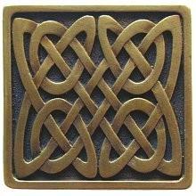 Notting Hill NHK-157-AB, Celtic Isles Knob in Antique Brass, Jewel