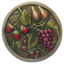 Notting Hill NHK-174-BHT, Tuscan Bounty Knob in Hand-Tinted Antique Brass, Tuscan