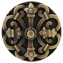 Notting Hill NHK-176-AB, Chateau Knob in Antique Brass, Olde World