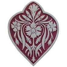 Notting Hill NHK-178-AP-A, Dianthus Knob in Antique Pewter/Cayenne, English Garden