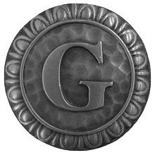 Notting Hill NHK-186-AP, Initial G Knob in Antique Pewter, Jewel