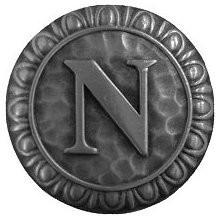 Notting Hill NHK-193-AP, Initial N Knob in Antique Pewter, Jewel