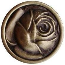 Notting Hill NHK-280-AB, Mckenna's Rose Knob in Antique Brass, English Garden