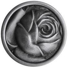 Notting Hill NHK-280-AP, Mckenna's Rose Knob in Antique Pewter, English Garden