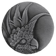 Notting Hill NHK-324-AP-L, Cockatoo Knob in Antique Pewter (Small - Left Side), Tropical