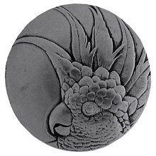 Notting Hill NHK-324-BP-R, Cockatoo Knob in Brilliant Pewter (Small - Right Side), Tropical