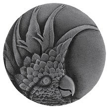 Notting Hill NHK-327-AP-L, Cockatoo Knob in Antique Pewter(Large - Left Side), Tropical