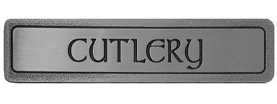 Notting Hill NHP-302-AP, Cutlery (Horizontal) Pull in Antique Pewter, Fun in the Kitchen
