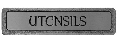 Notting Hill NHP-303-AP, Utensils (Horizontal) Pull in Antique Pewter, Fun in the Kitchen