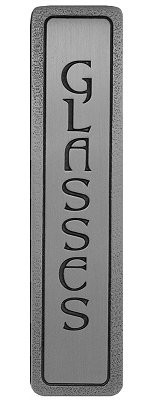 Notting Hill NHP-307-AP, Glasses (Vertical) Pull in Antique Pewter, Fun in the Kitchen