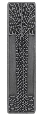 Notting Hill NHP-322-AP, Royal Palm Pull in Antique Pewter (Vertical), Tropical