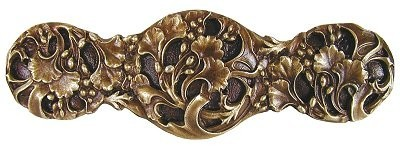 Notting Hill NHP-602-AB, Florid Leaves Pull in Antique Brass, Floral