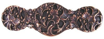 Notting Hill NHP-602-AC, Florid Leaves Pull in Antique Copper, Floral