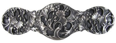 Notting Hill NHP-602-AP, Florid Leaves Pull in Antique Pewter, Floral