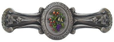 Notting Hill NHP-613-PHT, Fruit Bouquet Pull in Hand-Tinted Antique Pewter, Tuscan