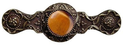 Notting Hill NHP-624-AB-TE, Victorian Jewel Pull in Antique Brass/Tiger Eye, Jewel