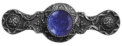 Notting Hill NHP-624-AP-BS, Victorian Jewel Pull in Antique Pewter/Blue Sodalite, Jewel