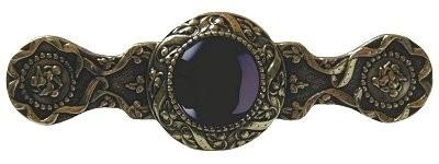 Notting Hill NHP-624-BB-O, Victorian Jewel Pull in Brite Brass/Onyx, Jewel