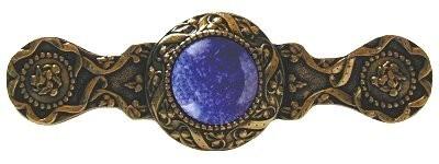 Notting Hill NHP-624-G-BS, Victorian Jewel Pull in 24K Gold/Blue Sodalite, Jewel