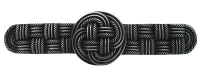 Notting Hill NHP-639-AP, Classic Weave Pull in Antique Pewter, Classic