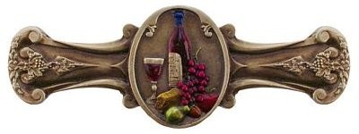 Notting Hill NHP-640-BHT, Best Cellar Pull in Hand-Tinted Antique Brass, Tuscan
